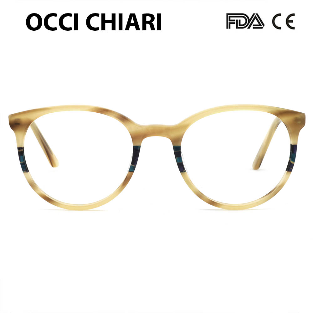 1b9b82db263e 2018 new women round optical acetate retro vintage eyeglasses frames with  clear lens glasses spectacles w-colocci
