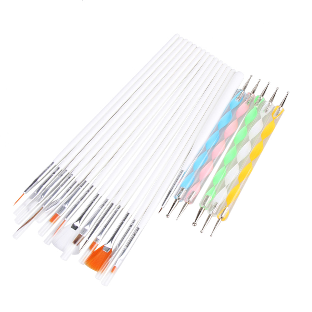 Buy 20pcs Nail Art Design Tool Kits