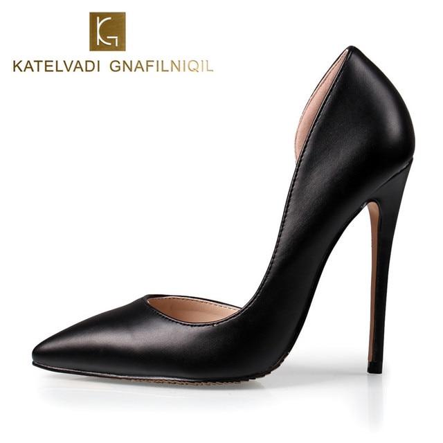 ab2c25eb2 Verão Mulheres Sexy Sapatos de Salto Alto Mulher Sapatos De Salto Alto  Preto PU de Couro