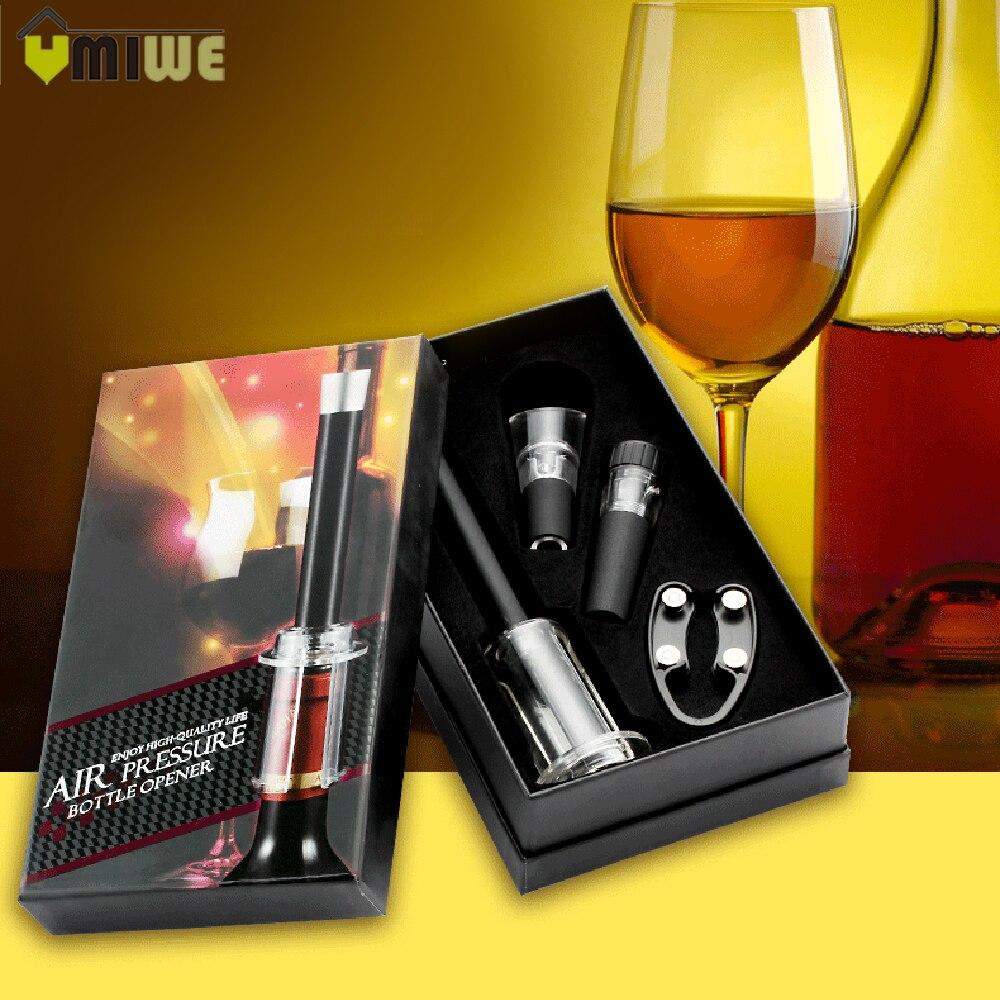 לחץ אוויר סוג סיכת מתנת סט פותחן בקבוקי יין אדום משאבות קורק מחלץ מתוך בלם אבק לשפוך פקק בקבוק מתנה קופסות