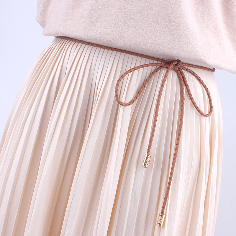 Fashion String Tassel Women Waist Rope Weave Bradied Belts Knitted For Dresses Knot Female Ladies Ceinture Femme