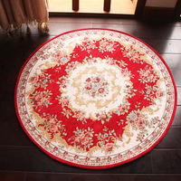 Europe Round Carpets D90cm D120cm Rugs For Living Room Carpets Antiskid High Density Rugs