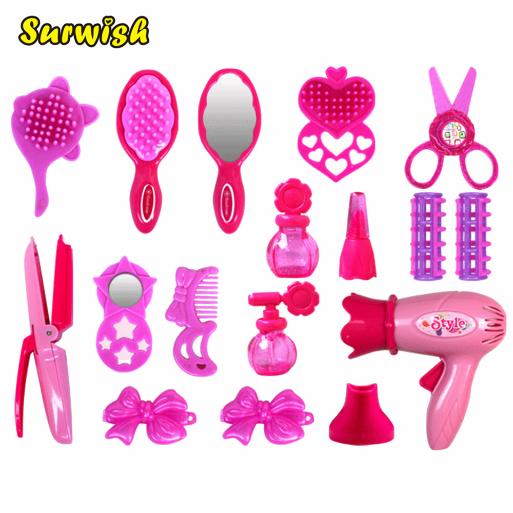 Surwish Girl Accessories Pretend & Play Makeup Toy Emulational Dress and Make-up Toy Set