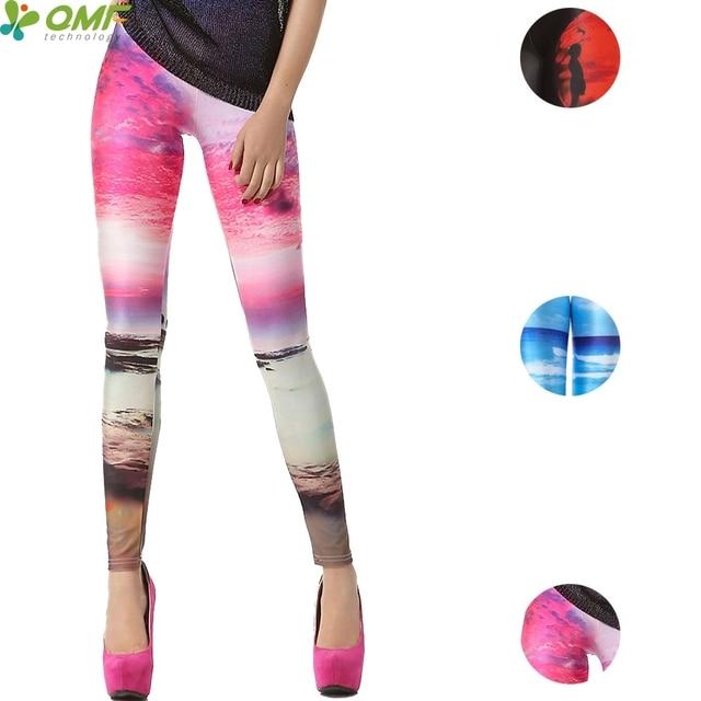 c2dea3965afbe Aurora Beach Pattern Yoga Pants Skinny Punk Tights Female Sports Fitness  Trousers Harajuku Red Sunset Jogging Leggings Stretchy