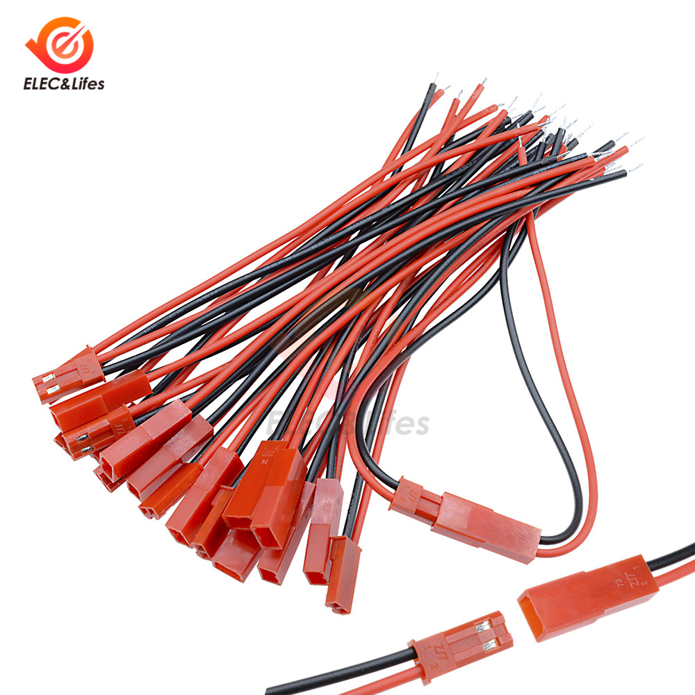 5Pair/10pcs 100mm 10cm JST Plug Cable Male And Female Connector 2 Pin For RC BEC Battery Helicopter DIY FPV Drone Quadcopter