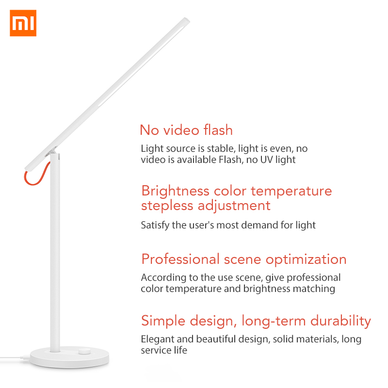 Image 2 - Xiaomi Mijia Mi Smart LED Desk Lamp Table Lamp Dimming Reading Light WiFi Enabled Work with AMZ Alexa IFTTT-in Smart Remote Control from Consumer Electronics