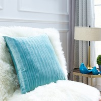 2 Pack Of Velvet Soft Stripe Decorative Square Throw Pillow Covers Set Cushion Cases PillowCases For