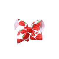 Adogirl 4 Inch 10 Pieces Pineapple Strawberry Kids Hair accessories Print Candy Hairpin For Girls Boutique Handmade Hair Clips