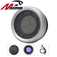 12000RPM 199km/h LCD Digital 95mm Odometer Speedometer Tachometer Gauge for Universal Motorcycle