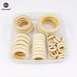 Набор деревянных колец Let's Make Baby Maple, детский деревянный Прорезыватель для зубов, для кормления детей, сделай сам, игрушки для занятий в трена...