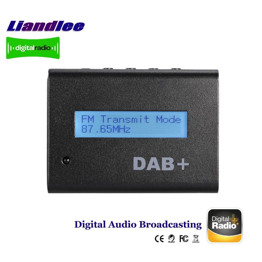 Liandlee External Car Digital Radio DAB DAB+ Audio Receiver / Digital Audio Broadcasting FM RF Transmission IR Remote LCD Panel universal car dab dab radio receiver tuner with fm transmitter converter plug and play adaptor adapter