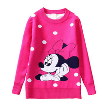 Free Shipping 5pcs lot Autumn Winter Style 3 8yrs Baby Boy s Cotton Knitted Sweater Minnie