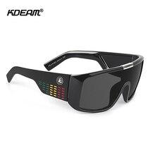 KDEAM Bold Shield Men Sunglasses Polarized Big Size One Piec