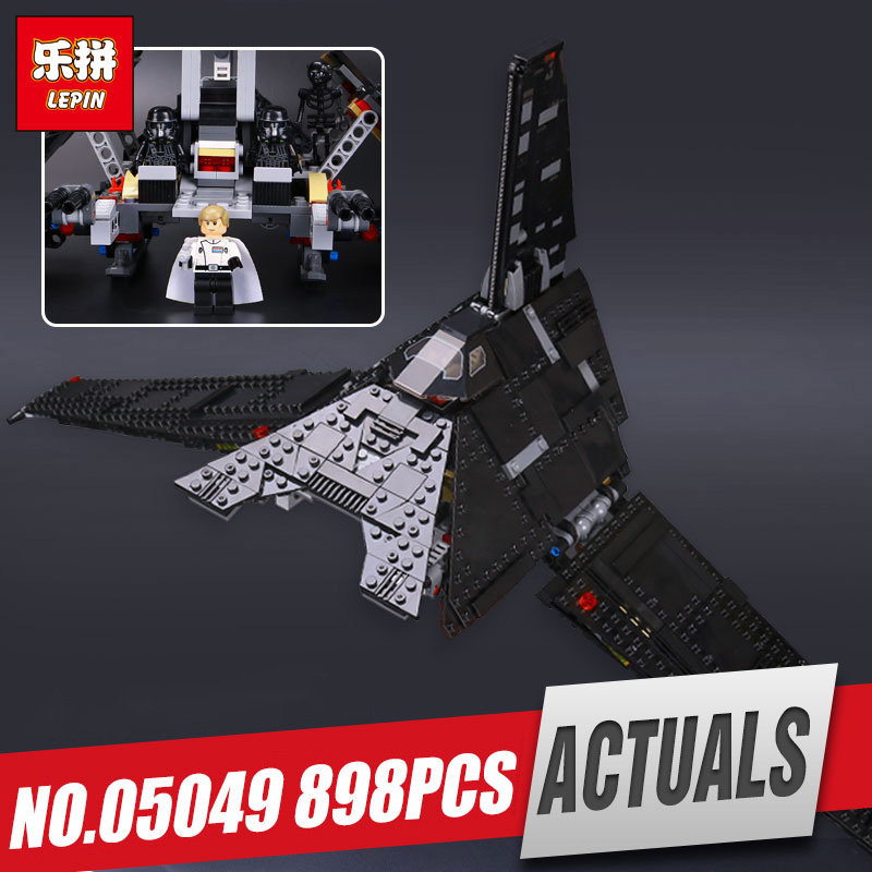Lepin 05049 863pcs Star Series The Shuttle Educational Building Blocks Bricks Funny Wars Toys Compatible with legoinglys 75156 lepin 05006 star kylo ren command shuttle lepin building blocks educational toys compatible with 75104 lovely funny toys wars