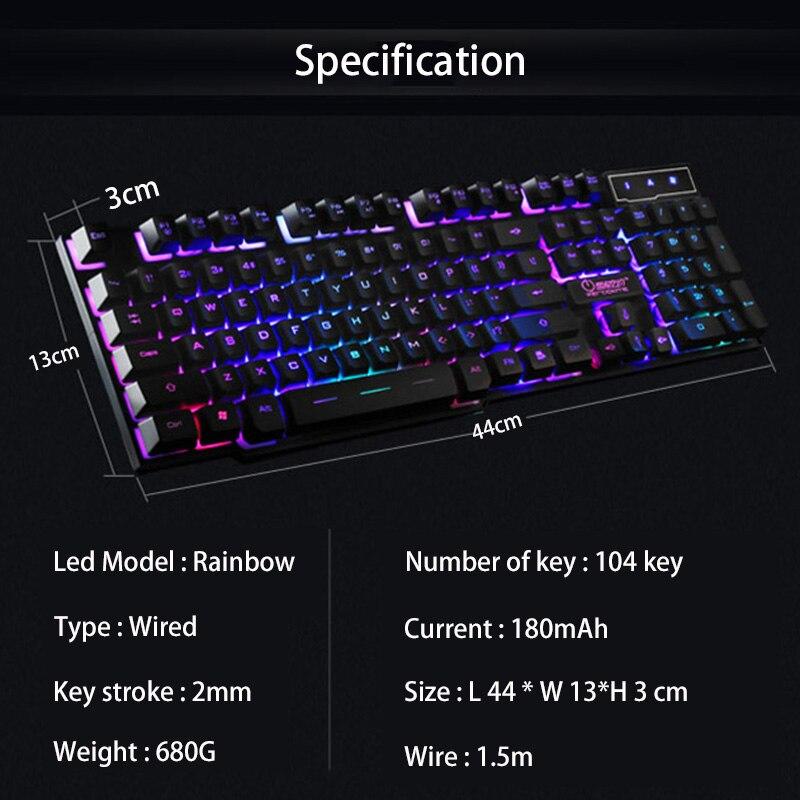 104 Key Waterproof Rainbow Backlit Slim LED Backlight Gaming Keyboard 104 Key Waterproof Rainbow Backlit Slim LED Backlight Gaming Keyboard HTB134MaSFXXXXXCXXXXq6xXFXXXx