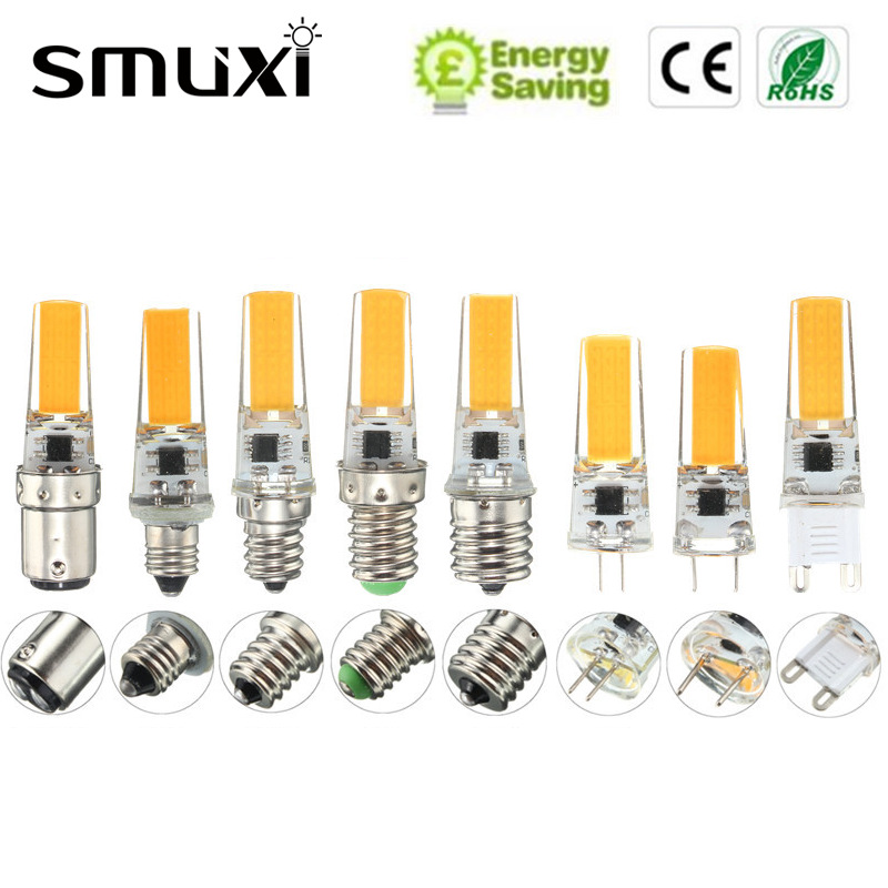Smuxi Dimmable COB LED Light Bulb E12 E11 E17 G8 BA15D E14 G4 G9 2.5W Lamp Replace Spotlight Bulb Chandelier Lighting g4 led bulb