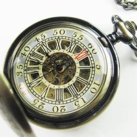 2010 Top Antique Double Cover Mechanical Pocket Watch NR Freeship