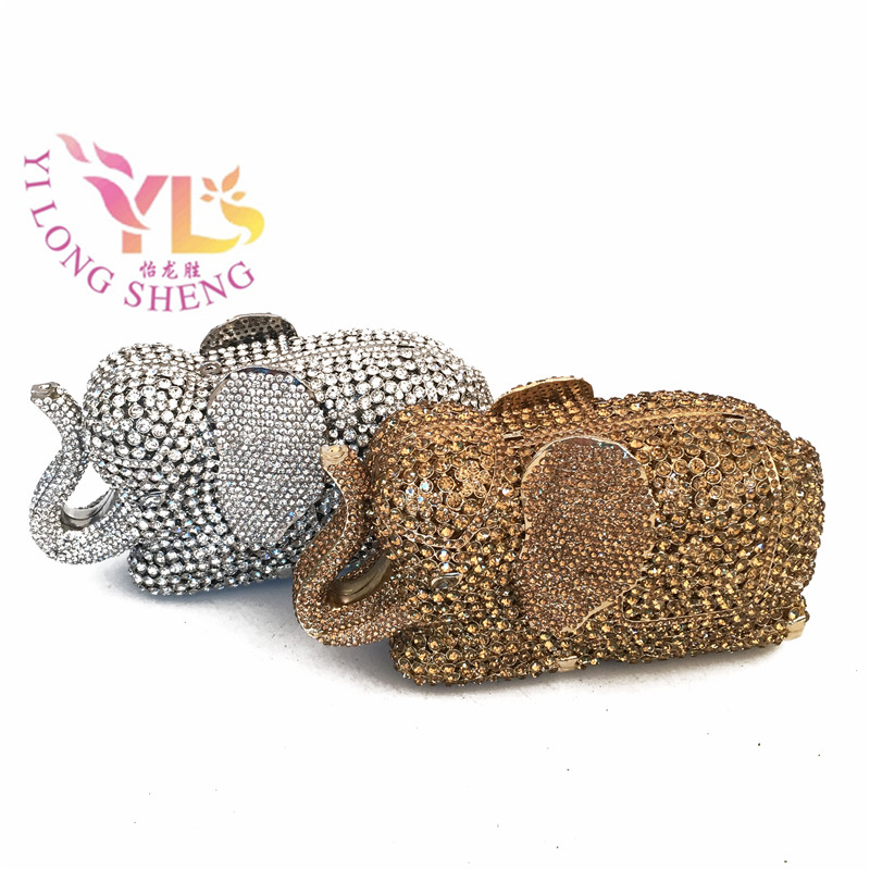 Women Fashion Clutch Evening Party Bags Animal Design Elephant Rhinestone Clutch Bag Wedding Dress Garment Bag YLS-A29 luxury crystal clutch handbag women evening bag wedding party purses banquet