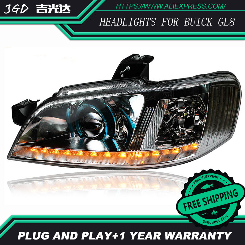 Car Styling Head Lamp for Buick GL8 headlights 2004-2008 LED Headlight DRL Daytime Running Light Bi-Xenon Lens HID Accessories внешний аккумулятор remax кассета 10 000 мач