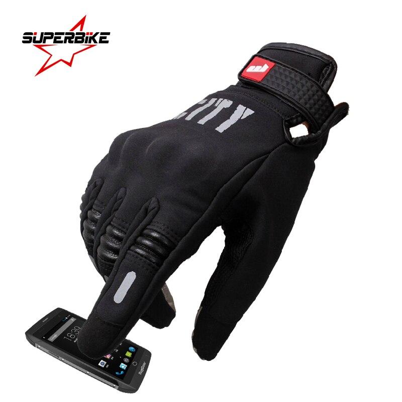 Мотоциклетная перчатка для мужчин, дышащая перчатка для езды на велосипеде и велосипеде, с сенсорным экраном, на весь палец, летняя
