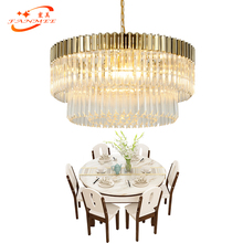 Modern Luxury Crystal Glass Chandelier Hanging Light LED Chandeliers Lamp Living Dining Room Lighting Fixture Gold Finish chandelier lighting crystal glass leaves chandeliers lamp led pendant hanging light living dining room bedroom foyer lighting