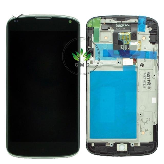 AAA + + + качество Для LG Nexus 4 E960 ЖК-Дисплей Сенсорный Экран Digitizer С Рамкой Ассамблеи + инструменты