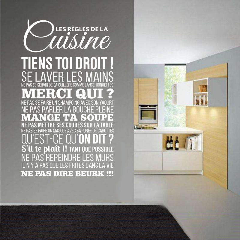 Nádobí stěna nálepka nástěnná malba pravidlo pravidlo vinyl stěna obtisk odnímatelný umění tapety domácí dekorace dům dekorace nálepka DW1042