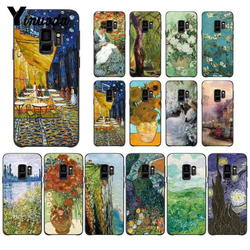 Yinuoda Vintage Van Gogh Art Painting Customer High Quality Phone Case for Samsung Galaxy S8 S7 edge S6 edge plus S5 S9 Pluscase