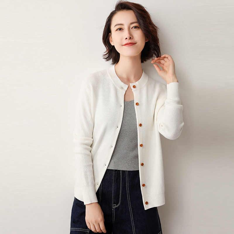 19 primavera otoño cárdigan suéter de las mujeres de punto pequeño abrigo abotonado chaqueta exterior moda femenina