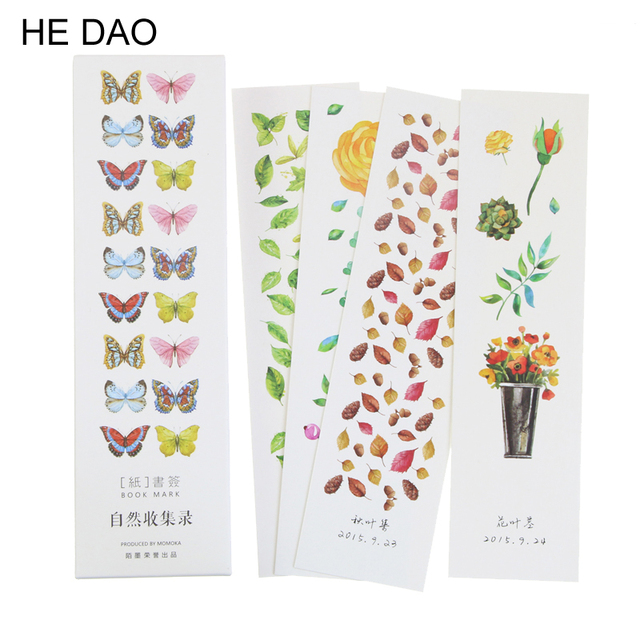 30 Pcs Pack Butterfly And Flowers Paper Bookmark Craft Decorative Creative Stationery Gift Film