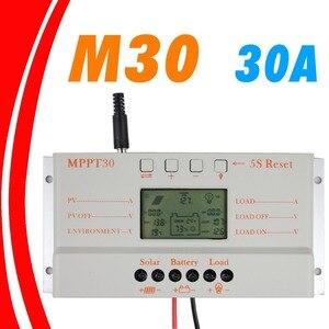 Image 2 - MPPT 30A LCD Solar laadregelaar 12 v 24 v auto switch LCD display MPPT30 Solar laadregelaar MPPT 30 charger controller