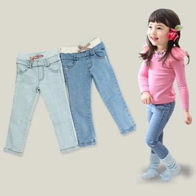все цены на girls leggings girl children's baby jeans kids girls pants jeans for girls bobo choses 2017 pantalon fillette elastic waist