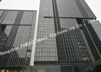 Aluminum Framed Double Layer Glass Curtain Wall for Heat Insulation Steel Structure Building System