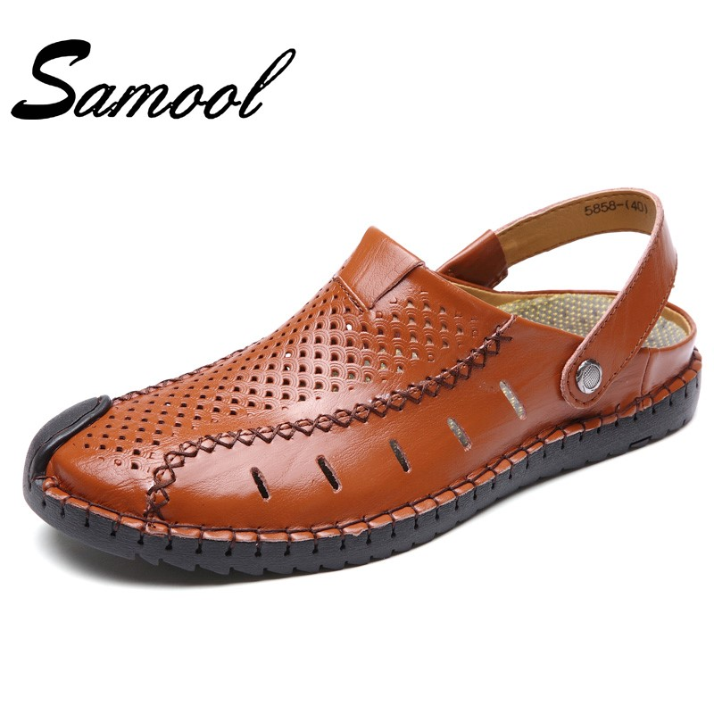 Men Fashion Sandals Summer Mens Slippers Leather Shoes Beach Casual Breathable Home Slippers Mens Shoes Flip-Flops Zapatos Gx3