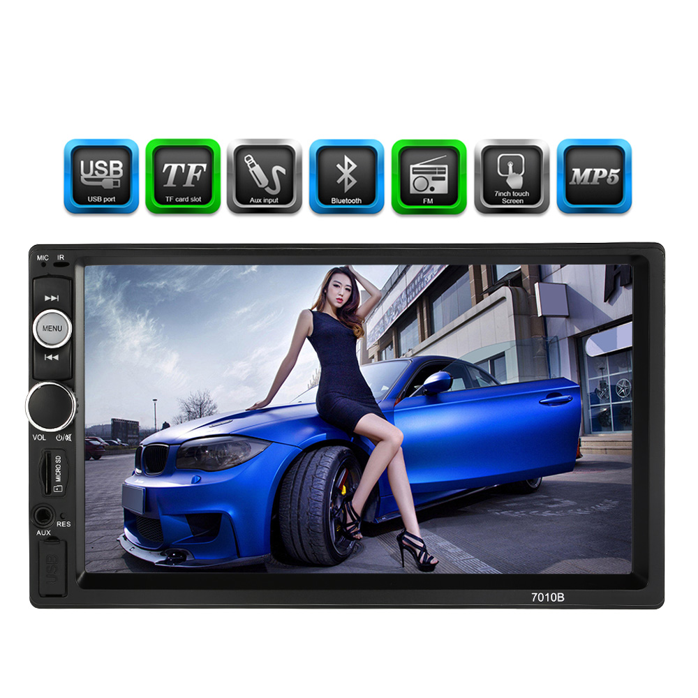 2 Din Car Radio MP5 Player Universal 7 inch HD Bluetooth Multimedia Car Radio Entertainment USB/TF FM Aux Input 7 hd 2din car stereo bluetooth mp5 player gps navigation support tf usb aux fm radio rearview camera fm radio usb tf aux