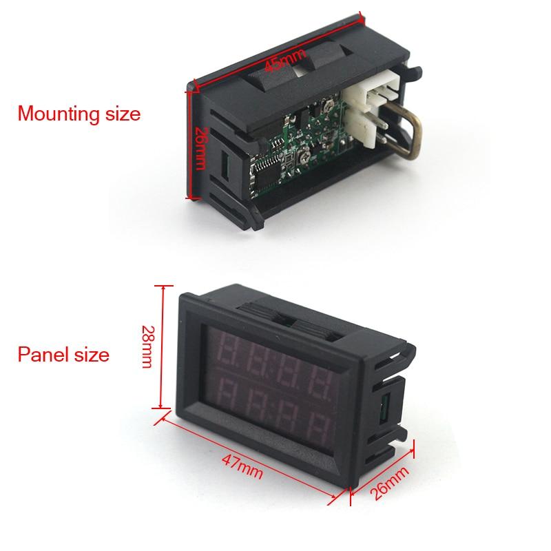 Digitális DC 200V 0-10A voltmérő ampermérő piros, kék LED-es - Mérőműszerek - Fénykép 4