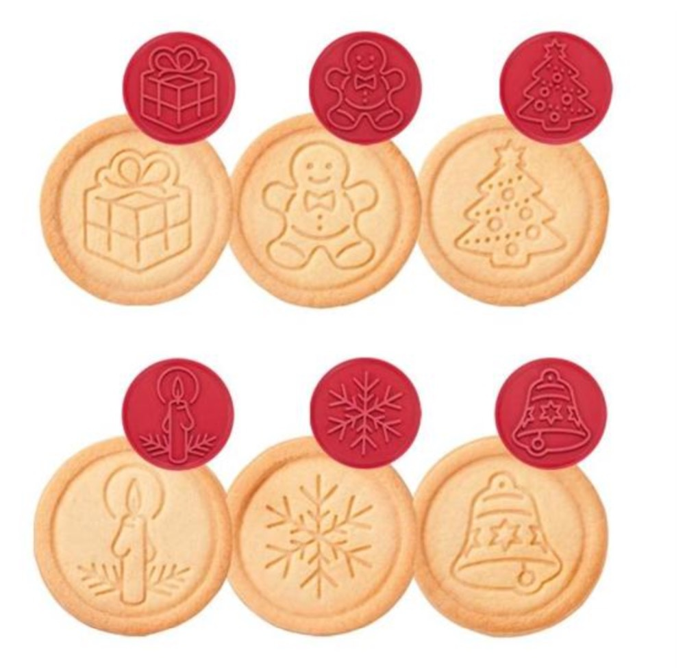 Aliexpress.com : Buy Silicone Cookie stamp with 6 Christmas Motifs ...