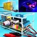 Envío Gratis Precio de Fábrica de LA UE 220 V DIY LM317 Voltaje Ajustable Power Supply Board Kit Con la Caja de acrílico