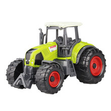 Alloy Engineering Car Toy Bulldozer Farm Model Vehicle Alloy Tractor Truck Toy Die Cast Harvesters Trailer Green Toys For Child(China)