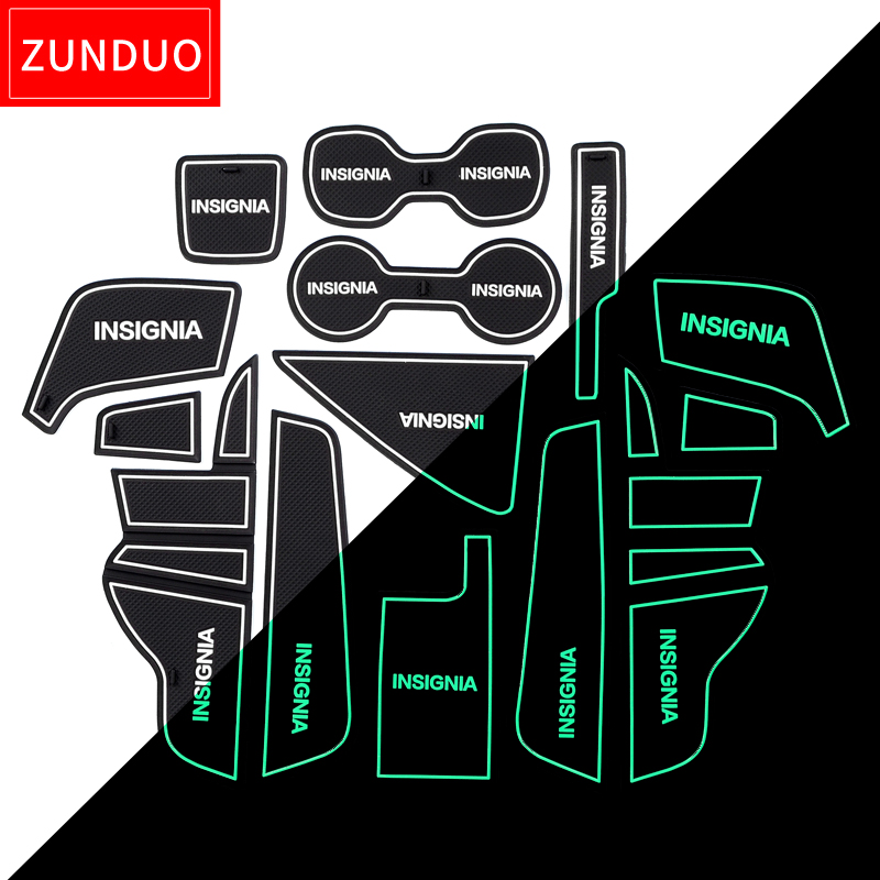 ZUNDUO Gate Slot Mats For Opel Insignia B 2017 2018 2019 MK2 OPC GSI Vauxhal Interior Door Pad Car Cup Holders Non-slip Mats