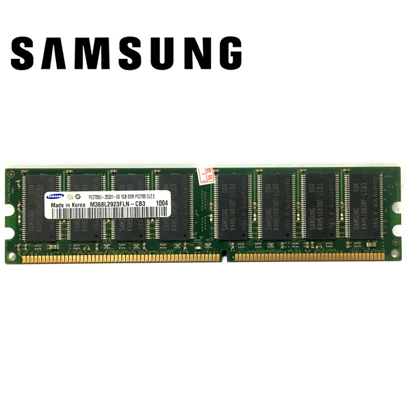 Samsung  1G 1GB DDR PC 2700 3200 U DDR 1 333MHZ 400MHZ 333 400 MHZ Desktop  PC Memory Memoria Module Computer Desktop DDR1 RAM