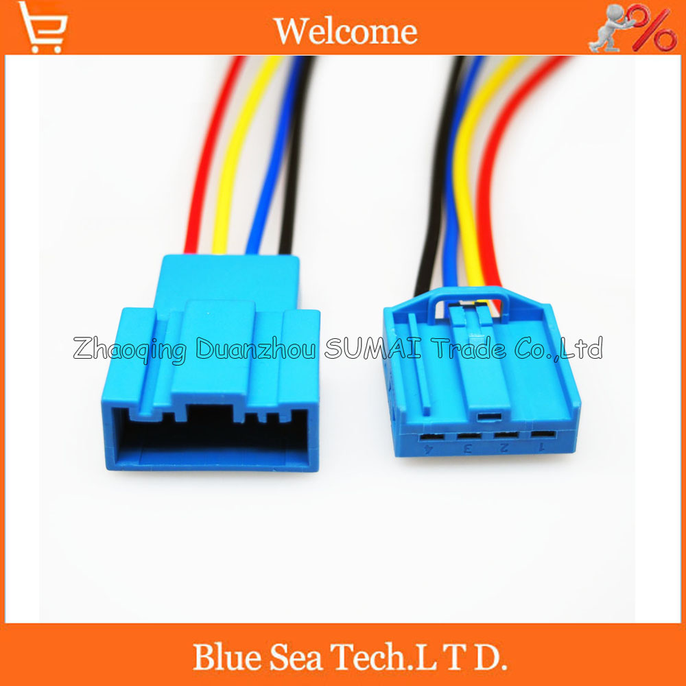 4 Pin Auto connector,Car Speaker plug with 17 AWG cable,Auto Bass plug,Car electric connector for BMW,Porsche etc.