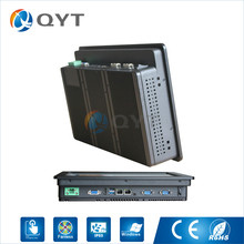 Barebone system 12 inch widescreen 1280x800 industrial panel PC Intel j1900 2 0GHz 2xRJ45 2xRS232 1xHDMI