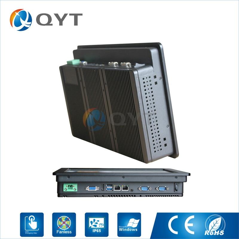 Barebone system 12 inch widescreen 1280x800 industrial panel PC Inter j1900 2 0GHz 2xRJ45 2xRS232 1xHDMI