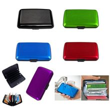 Business ID Name Card Holder Credit Card Wallet Holder Aluminum Metal Case Box Waterproof Anti-magnetic Card Case Holder(China)