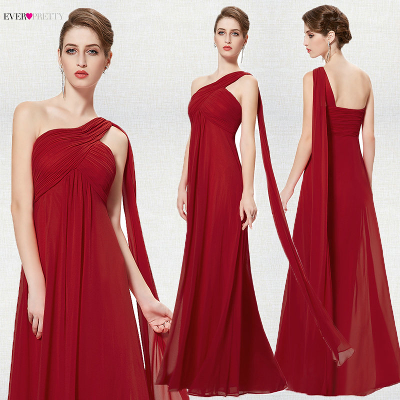 Image 4 - Ever Pretty Women Elegant Evening Dresses Long Burgundy Sexy A Line Sleeveless V Neck Long Backless Chiffon Party Evening Gowns-in Evening Dresses from Weddings & Events