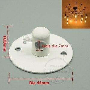 Image 2 - Rosone in metallo Base Piastra di Montaggio Supporto di Montaggio Luce Lampadario Lampadina Piccolo Mini Per Sprider Accessori FAI DA TE