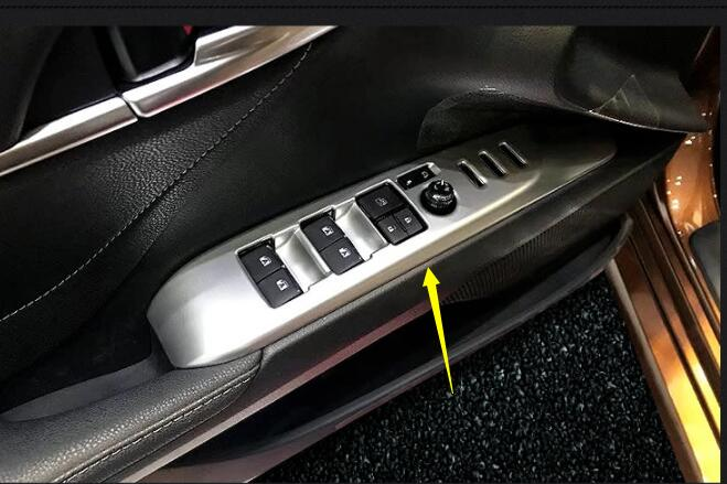 Carbon fiber look Interior Seat Adjust Cap Trim For Toyota Camry 2018