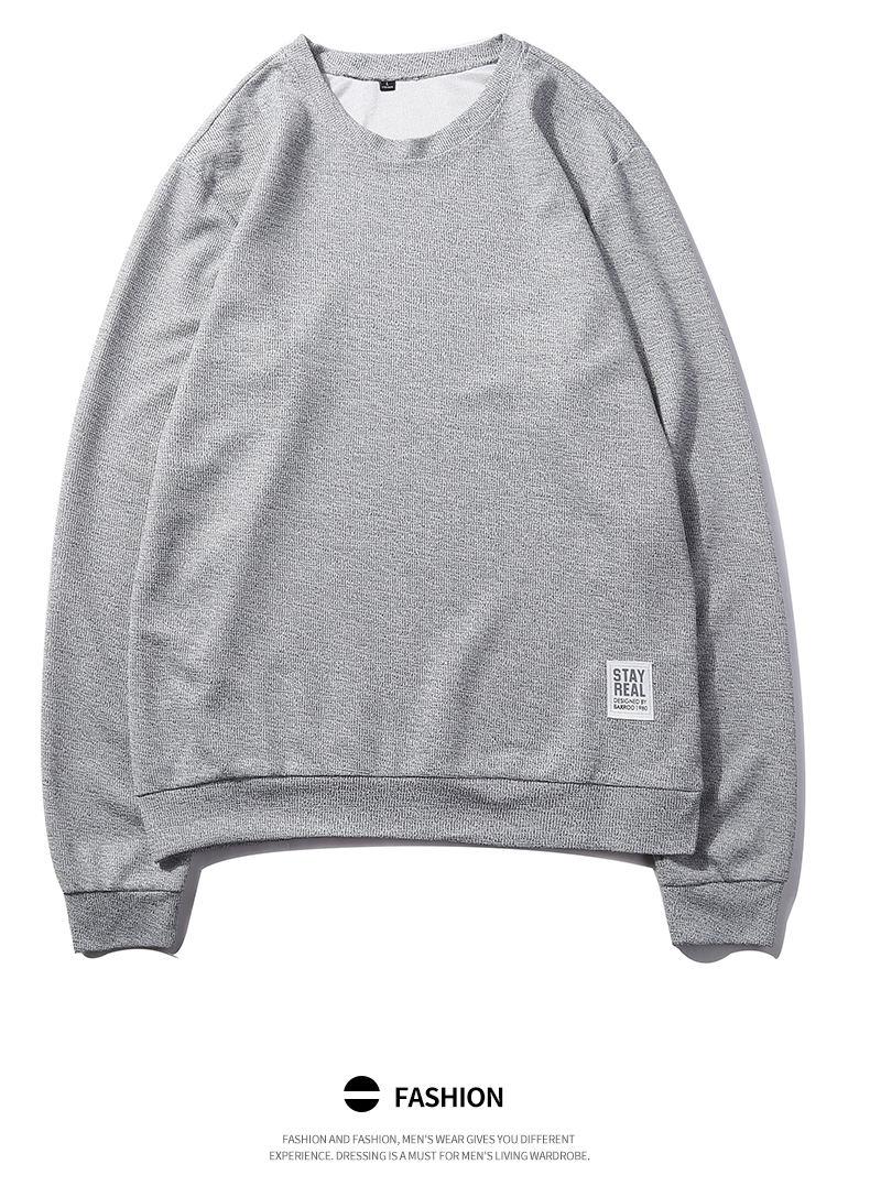 7Colors Autumn Casual Men Sweatshirts Solid Hoody Top Basic O Neck Sport Hoodies Male Spring Crewneck Streetwear Brand Clothing 07