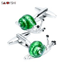 SAVOYSHI High Quality Funny Animal Cuff Links Shirt Cufflinks for Mens Gifts Cuff bottons Brand Jewelry Personalized Custom Name